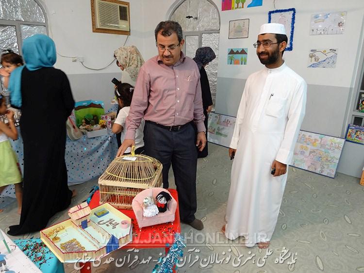 گزارش خبری-تصویری نمایشگاه آثار نونهالان قرآن آموز-مهد قرآن هدی جناح(۲۰ عکس)